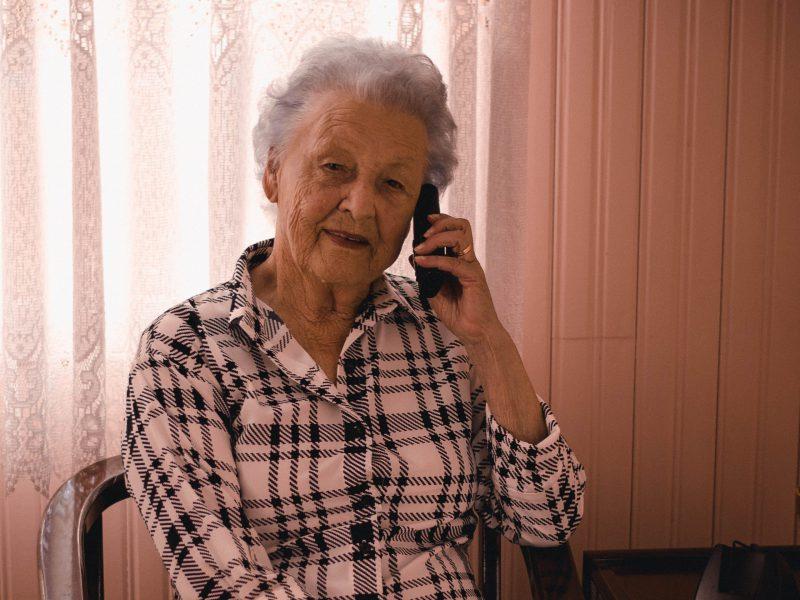 Vrouw telefoon